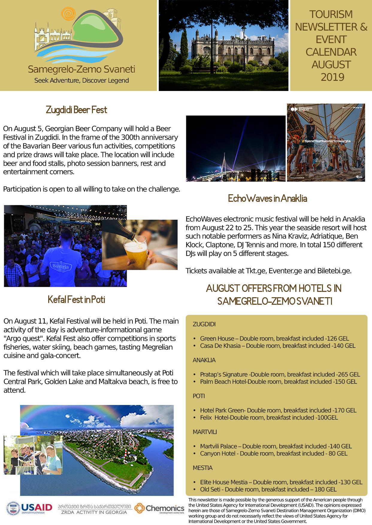 August Tourism Newsletter
